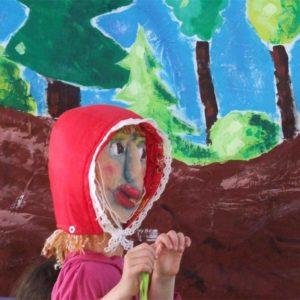 Le petit chaperon rouge, atelier animation de marionnettes, enfants